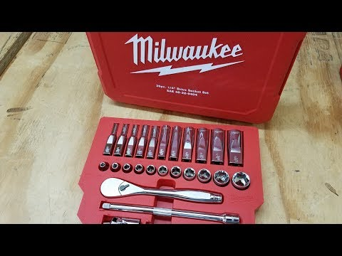 Milwaukee 1/4″ Ratchet and Socket Set Review