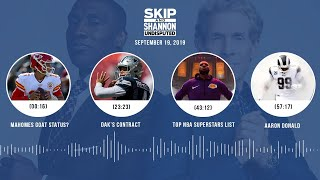 UNDISPUTED Audio Podcast (9.19.19) with Skip Bayless, Shannon Sharpe & Jenny Taft | UNDISPUTED