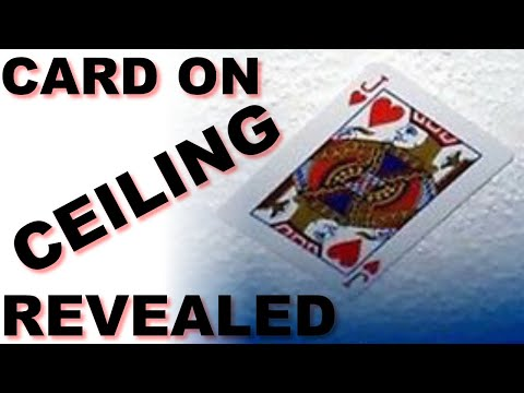Card on Ceiling - Card Trick - Magic Tricks REVEALED