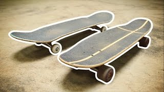 CRUISER SKATEBOARD VS NORMAL SKATEBOARD!