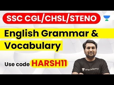 SSC CGL/CHSL/STENO | Complete English Course | Use Referral Code HARSH11 & Get 10% Off