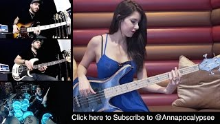 DAVID GUETTA   Dangerous [Bass & Drums Cover] With COOP3RDRUMM3R & ANNA SENTINA
