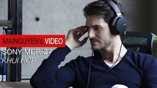 Khui hộp tai nghe Sony MDR-Z7 - www.mainguyen.vn