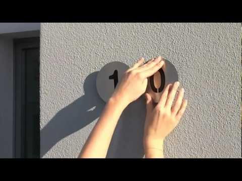 Hausnummern aus Edelstahl - Radius Design