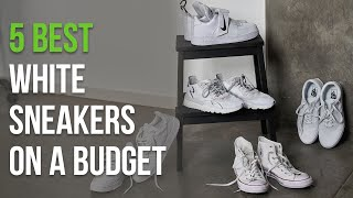 5 Best Affordable White Sneakers For Back To School   Men's Fashion BTS   Onedapperstreet