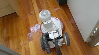 Timber Floor Wet Polishing