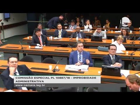 PL 10887/18 - Improbidade administrativa - 18/09/2019 - 15:57