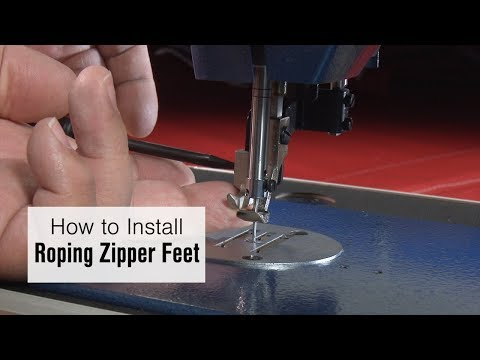 Zipper Foot Set Left Toe fits Sailrite Fabricator Sewing Machine
