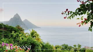Ponant Cruises: The island of Saint Lucia with Olivier de Kersauson