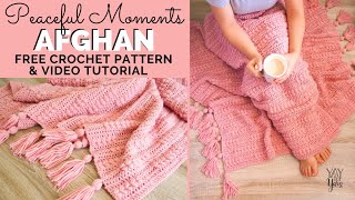Peaceful Moments Afghan - Free Crochet Blanket Pattern | Yay For Yarn