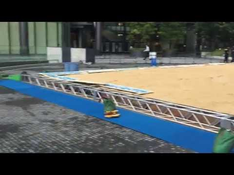 近畿関西梅田グランフロント ビーチバレー 仮設シャワー室 ハウス・トイレ屋ドットコム