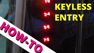 Program & Erase Your Keyless Entry Code - HOW TO ESCAPE