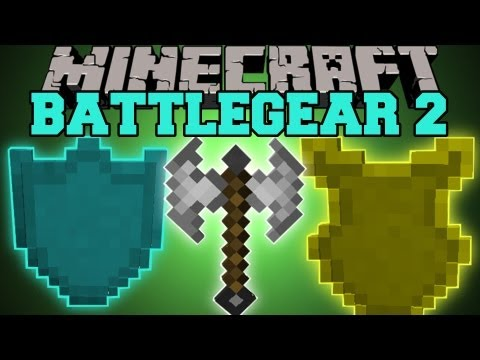 Minecraft : BATLLEGEAR 2 (DUAL WIELD AND SHIELD BLOCKING)  Mine and Blade Mod Showcase