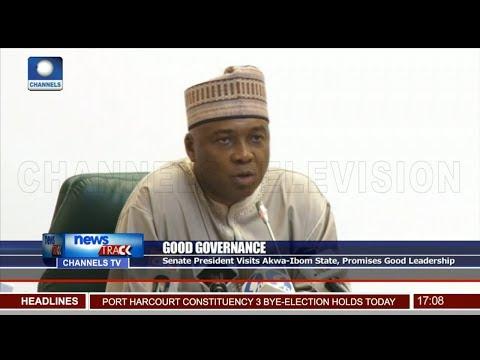 Saraki Visits Akwa Ibom State, Promises Good Leadership