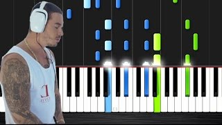 J. Balvin - Ay Vamos - Piano Tutorial by PlutaX