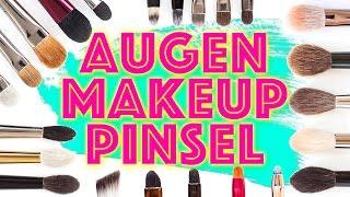 PINSEL EMPFEHLUNG & FAVORITEN: 7 Formen von Eye Brushes für vers. Schminktechniken / Augen-Makeup
