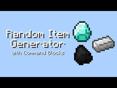 How to make ITEM GENERATOR in Minecraft PE (command blocks