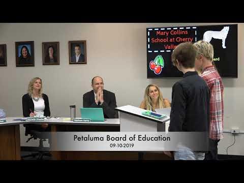 Petaluma Board of Education 9-10-2019