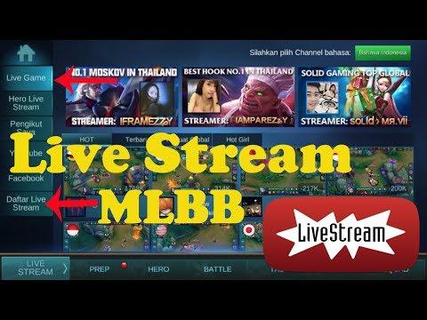 Video Cara Live Stream di Game Mobile Legends 1080 HD