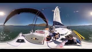 360° video: Sail under the Golden Gate Bridge