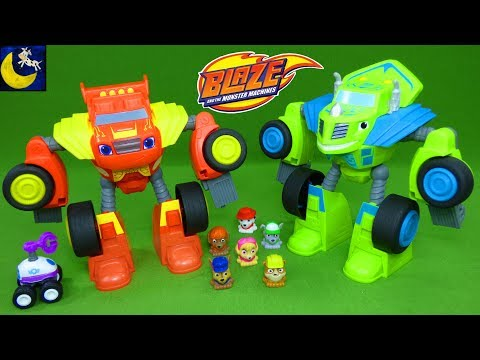 Awesome Blaze and Monster Machines Toys - Robot Riders Watts Zeg Paw Patrol Mashems Teenies
