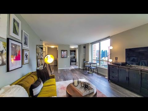 A spacious one-bedroom model on the River North / Gold Coast border