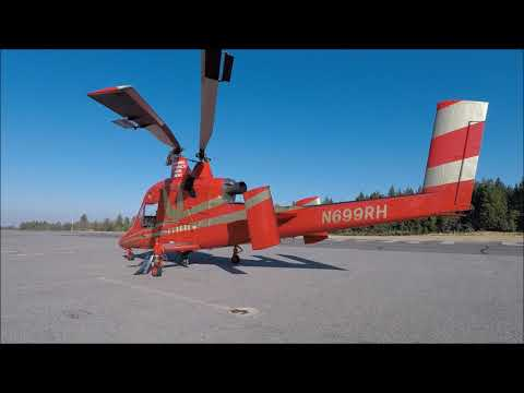 Kmax Type 1 Firefighting Helicopter Northern Ca. Fires