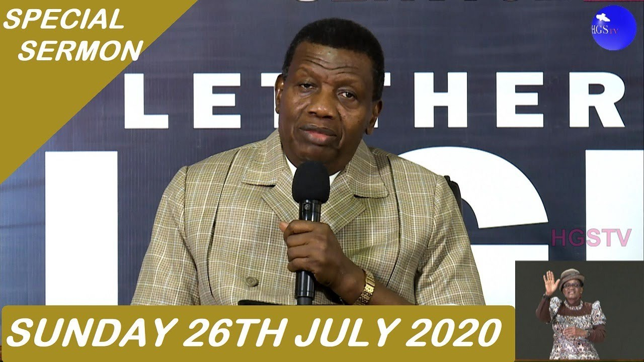 RCCG Sunday Service 26th July 2020 by Pastor E. A. Adeboye
