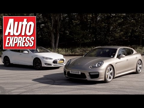 Tesla Model S P85D vs Porsche Panamera Turbo S drag race