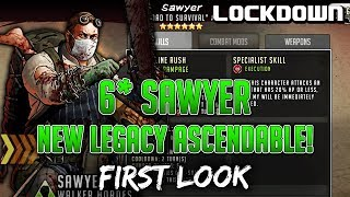 TWD RTS: 6* Sawyer, New Legacy Ascendable! First Look   The Walking Dead: Road To Survival