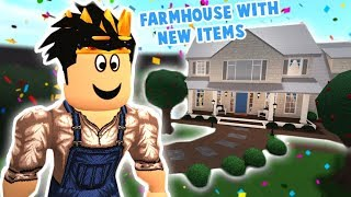 i built a bloxburg farmhouse with the NEW UPDATE ITEMS... i'm a farmer now