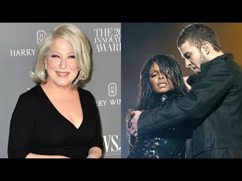 Bette Midler Shades Justin Timberlake & Asks: 'When Is Janet Jackson's Boob' Going To Get An Apology