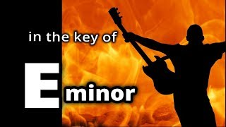 ♫ HARD ROCK Backing Track in E minor ♫ ROCK SHUFFLE for Guitar Solo Improv!