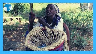 Independent granny who weaves kiondos for a living