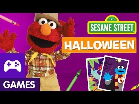 Sesame Street: Elmo Halloween Game & Zoe Halloween Game!