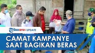 Viral Video Camat Diduga Kampanye Berkedok Bagi-bagi Beras Bantuan Bupati: Harus Dua Periode Ya