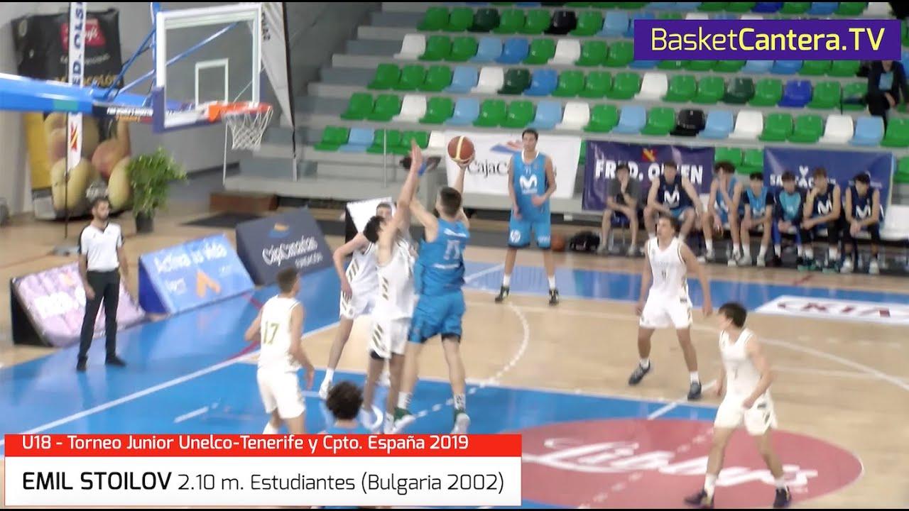 EMIL STOILOV 2.10 m. Estudiantes (Bulgaria 2002) Torneo Internacional U18 Tenerife y Cpto.España.