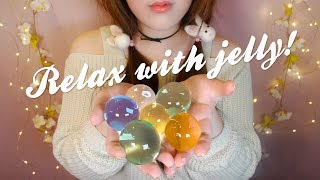 ASMR I'm Jelly😚 (Relaxing Water Beads & Gel & Slime