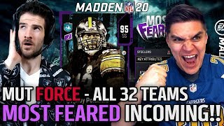Most Feared INCOMING! ALL 32 Teams Custom Card Art   MUT Force   Episode #62