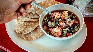 SUPER TASTY MEXICAN STREET SEA FOOD!!!  THAT WILL BLOW YOUR MIND!!! SHRIMP AND CLAMS COCKTAIL!!!