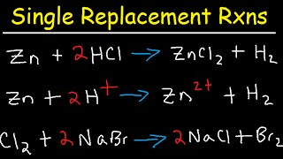 Single Replacement Reactions Tutorial - Net Ionic Equations Chemistry