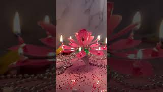 """Свеча музыкальная для торта """"Цветок"""", 14,5 см, вращающаяся, 14 лепестков, розовая, ЗОЛОТАЯ СКАЗКА, 591466"""