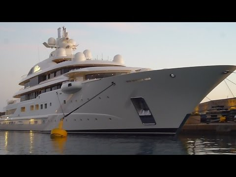 "SUPER MEGA YACHT ""DILBAR"" ...110 meters Biggest/Largest most expensive boat in the world travel trip"
