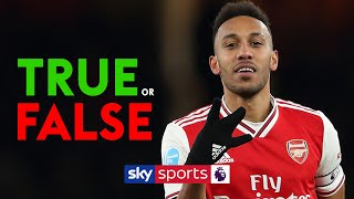 SUBSCRIBE ► http://bit.ly/SSFootballSub PREMIER LEAGUE HIGHLIGHTS ► http://bit.ly/SkySportsPLHighlights Arsenal striker Pierre-Emerick Aubameyang plays True or False ahead of the North London Derby at The Emirates. Which of his Arsenal teammates have the best swag? Who is the WhatsApp king? How much did he miss his barber during lockdown? Does he idolise Thierry Henry?  Watch Premier League LIVE on Sky Sports here ► http://bit.ly/WatchSkyPL ►TWITTER: https://twitter.com/skysportsfootball ►FACEBOOK: http://www.facebook.com/skysports ►WEBSITE: http://www.skysports.com/football  MORE FROM SKY SPORTS ON YOUTUBE: ►SKY SPORTS CRICKET: https://bit.ly/SubscribeSkyCricket ►SKY SPORTS BOXING: http://bit.ly/SSBoxingSub ►SOCCER AM: http://bit.ly/SoccerAMSub ►SKY SPORTS F1: http://bit.ly/SubscribeSkyF1