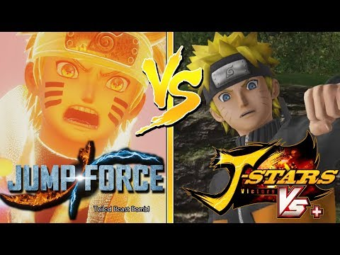 JUMP FORCE: Naruto Uzumaki's New Moveset Then and Now (J-Stars Comparison) (видео)