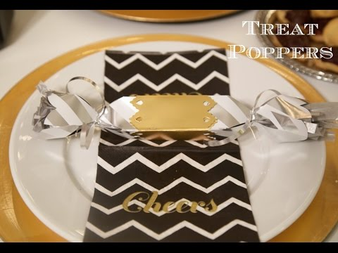 How To Throw A New Year's Eve Party - Treat Poppers | Sizzix DIY Parties & Events