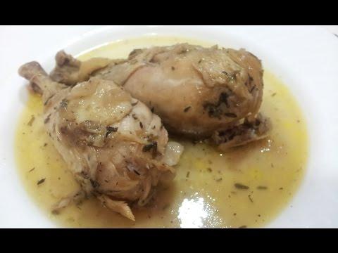 Pollo al horno con hierbas provenzales en olla GM F