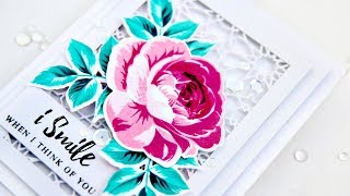 Build-A-Flower Rose With Decorative Die Cutting