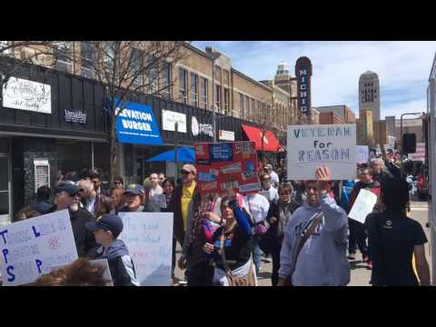 Thousands march through Ann Arbor during March for Science