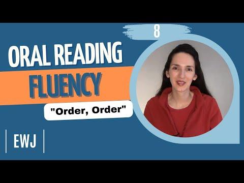 """Oral Reading Fluency 8 - """"Order, Order"""""""
